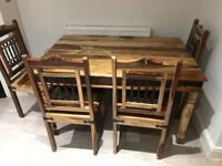 Jail -Indian Solid Wood-Dinning table and 4 chairs