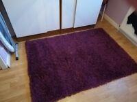 Purple shag pile rug