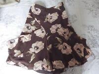 womens skirt size 8 brown,pink,black