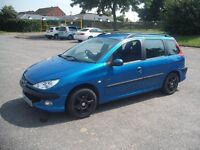 2004 PEUGEOT 206 1.4 PETROL SW ESTATE ONLY 2 PREVIOUS OWNERS