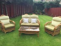 Conservatory Furniture - 4 pieces (2 chairs, one 2 seater and table)