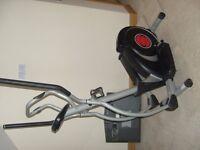 Gym equipment Crosstrainer Olympus calorie counter pulse rate reading etc., £70