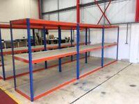 JOB LOT 20 bays Rapid 1 industrial longspan shelving 7ft high! ( pallet racking , storage )