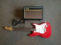 Electric guitar by crafter & a Vox amp