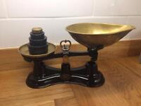 Vintage Salter Scales Black with weights