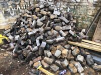 Reclaimed Belgian block paving stones (approx. 500)