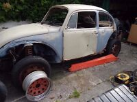 Classic 1972 Tax Excempt VW Beetle bug including engine gearbox and loads of parts to finish