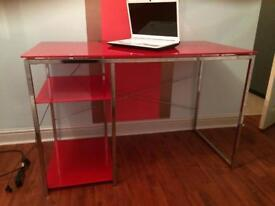 Red gloss desk- excellent condition