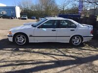 BMW 3 series E36 316i Saloon Alpine White 4dr - 4,44 diff, auto-manual conversion - spares/repairs