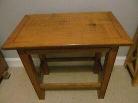 Rustic Table Heavy Oak Vintage Side Coffee Table