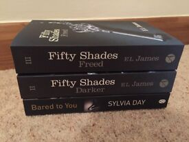 Fifty Shades Darker and Freed and Bared To You Books in Excellent Condition