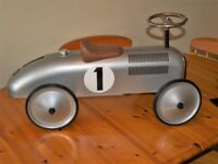 Retro All Metal Ride On Racing Car for 1 to 3 Years
