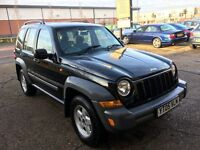 2005 JEEP CHEROKEE 2.8 CRD DIESEL AUTOMATIC BLACK 96 000 MILES HPI CLEAR