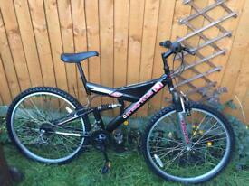 "Adults Mountain bike 26"" wheels size dual suspension Bargain"