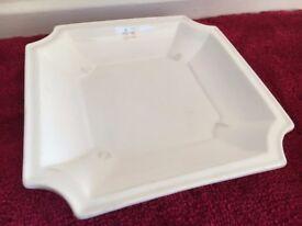 Ceramic Serving Dish - White - Medium Square Plate - Tray - Platter - Catering Tableware