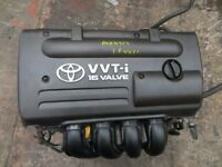 2001-2008 TOYOTA AVENSIS 1.8 VVTi 140 BHP ENGINE GOOD ENGINE LOW MILEAGE WITH WARRANTY