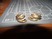 22ct gold earings with diamonds
