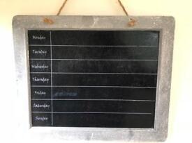 Weekly planner/blackboard