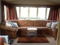Willerby Westmoreland 2 Bedroom Static Caravan for Sale with large wooden decking