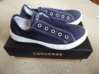 Pair of boys blue Converse All Stars slip ons - size 2