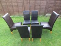 6 Chelsea style Faux leather dining chairs  kitchen  High back  furniture  FREE DELIVERYNew   used chairs   stools for sale in Leicester  Leicestershire  . Old Dining Chairs Leicester. Home Design Ideas