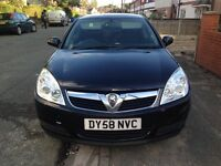 2008 + 12 Months MOT+Full Service History+Only 1 Owner + Vauxhall Vectra 1.8 Sapphire Black £995