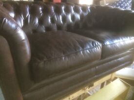 Beautiful Brown leather Chesterfield