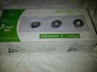 3 LED Recessed Spotlight Light Kit (x2)