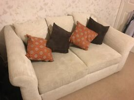 Barely used - Sofa bed and armchair (including cushions) for quick sale