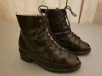 Ugg leather boots lambswool lined - Made in Italy. UK size 6.5