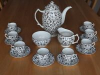 Coffee set for 8, perfect condition, dishwasher safe, Johnson Bros, Ironstone.