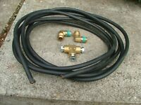 18ft rubber covered 5/16 lpg caravan gas pipe and fittings