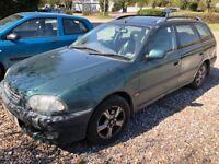 Toyota Avensis CDX 1998cc Petrol Automatic 5 door estate T Reg 01/03/1999 Green