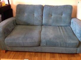 2 seater sofa - blue