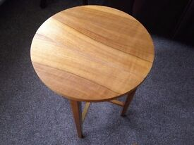 £15 each smart wooden tables sturdy ideal for next to sofa, can fold away.