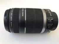 CANON EF-S 55-250mm f/4-5.6 IS Lens - PERFECT NEVER BEEN USED!