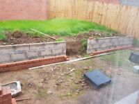 Someone to finish building a brick garden wall ( see pic). Will pay £120 for the work