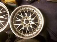 "5x120 18"" Staggered BBS RS 744/745 Alloys Split Rims BMW Polished Deep Dish E46 E38 E39 E34"