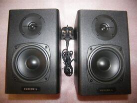 Kurzweil KS40A , KS-40A , Active Powered Studio Monitors , Speakers / PAIR