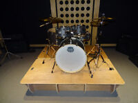 "Drum Kit Riser - ""Ezee - Riser"" - wooden stage platform for drum kit. No Tools needed for assembly"