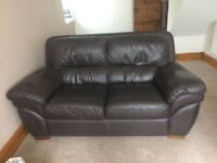 Very good condition - 2x large leather comfy family sofas - Quick sale price !