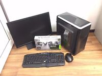 Gaming Computer PC, Complete setup with 22 inch Monitor (intel i3, 1TB, GTX 1050 Ti)