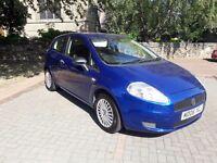 Fiat punto Grande 1.2 petrol 3dr 2006 blue 5 mot.manual.59k miles