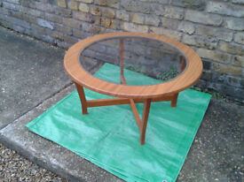 COFFEE TABLE GLASS INSERT RARE-VINTAGE Vintage 1960s 70s FREE LOCAL DELIVERY
