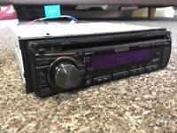 Kenwood KDC-DAB41U single din head unit. DAB radio USB and CD player