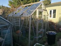 Greenhouse dismantled