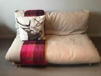 Pine framed futon Oatmeal colour