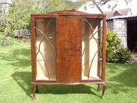 1950s Glass Display Cabinet