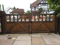 """Pair of 4 Foot Wide Timber Gates For Sale. (3' 4"""" height)"""