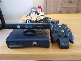 xbox 360 slim 250gb with connect and 14 top games 2 wireless controllers all excellent